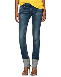 R13 - Kate Low-rise Cuffed Skinny Jeans - Lyst