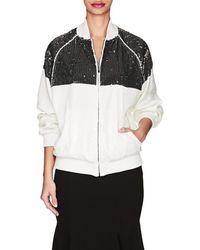 Alberta Ferretti - Sequin-embellished Track Jacket - Lyst