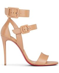 b420c69b92f Lyst - Christian Louboutin Spikoo Pvc   Leather Sandals in White