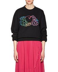 Cedric Charlier - Logo Cotton Fleece Sweatshirt - Lyst