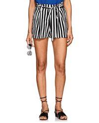 L'Agence - Alex Striped Silk Shorts - Lyst