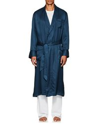 Derek Rose - Woburn Striped Silk Satin Robe - Lyst