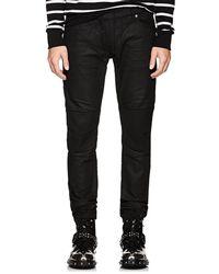 Balmain - Waxed Biker Skinny Jeans - Lyst