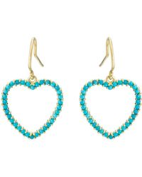 Jennifer Meyer - Large Open Heart Drop Earrings - Lyst