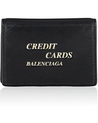 Balenciaga - Leather Card Case - Lyst