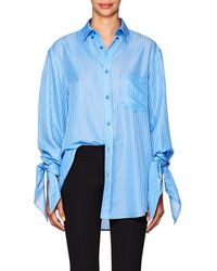 Balenciaga - Striped Knotted-cuff Button - Lyst