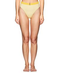 Onia - Emily Gingham High-waist Bikini Bottom - Lyst