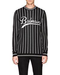 Balmain - Logo Crewneck Sweater - Lyst