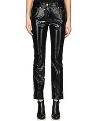 Helmut Lang | Patent Leather Crop Flared Pants | Lyst