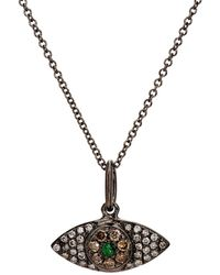 Ileana Makri - Open Eye Pendant Necklace - Lyst