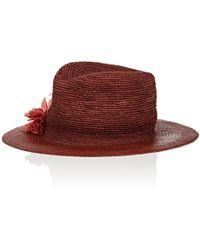 Albertus Swanepoel - Gauze Panama Straw Fedora - Lyst