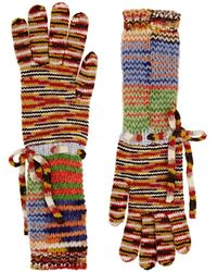 Missoni - Alpaca-blend Mixed-stitch Gloves - Lyst