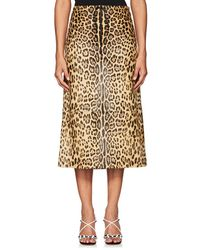 Valentino - Jaguar Calf Hair Midi-skirt - Lyst