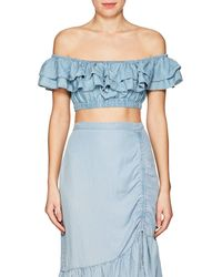 Suboo - Stand Still Chambray Crop Top - Lyst