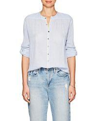 Pas De Calais - Leah Striped Cotton Shirt - Lyst