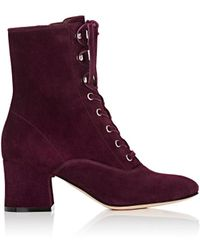 Gianvito Rossi - Mackay Suede Ankle Boots - Lyst
