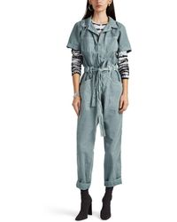 8c520ac6f103 Ilana Kohn Marine Canvas Gary Jumpsuit in Blue - Lyst