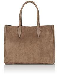 Lanvin - Medium Suede Shopper Tote Bag - Lyst