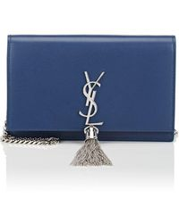 Saint Laurent - Monogram Kate Leather Chain Wallet - Lyst