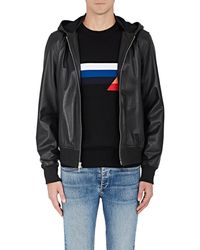 Rag & Bone - Christopher Leather Hooded Bomber Jacket - Lyst