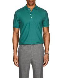 Barneys New York - Pima Cotton Polo Shirt - Lyst