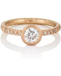 Malcolm Betts - Round White Diamond Ring - Lyst