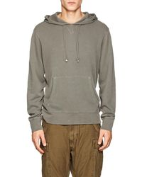 Barneys New York - Cotton Terry Hoodie - Lyst