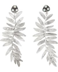 Julie Wolfe - Fern-shaped Drop Earrings - Lyst
