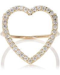 Jennifer Meyer - Large Open Heart Ring - Lyst