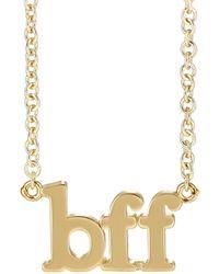 Jennifer Meyer - bff Charm Necklace - Lyst
