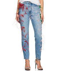 Vivetta - Embellished Straight Jeans - Lyst
