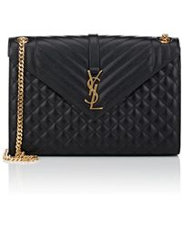 Saint Laurent - Monogram Large Leather Chain Bag - Lyst