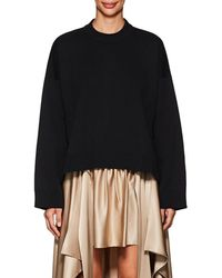 Paco Rabanne - Oversized Compact Knit Cotton Sweatshirt - Lyst