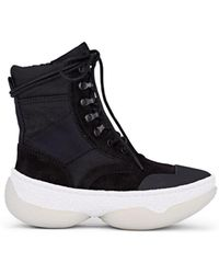 Alexander Wang - A1 Suede & Canvas Boots - Lyst