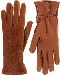 Barneys New York - Dotted Deerskin Gloves - Lyst