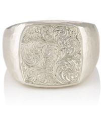 Malcolm Betts - Sterling Silver Signet Ring - Lyst