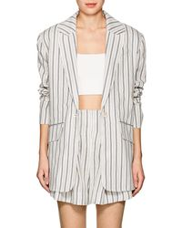Zimmermann - Striped Linen Oversized Blazer - Lyst