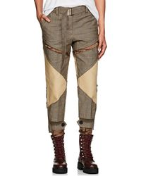 Sacai - Glen Plaid Patchwork Belted Pants - Lyst
