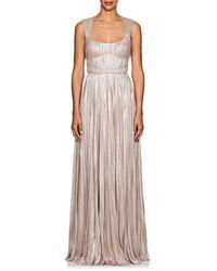 J. Mendel - Shimmering Plissé Gown - Lyst