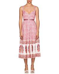 Saloni - Fara Folkloric-print Cotton A-line Dress - Lyst