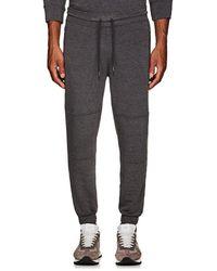 Barneys New York - Cotton Fleece Moto Sweatpants - Lyst
