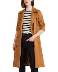 Nili Lotan Suede Double-breasted Trench Coat