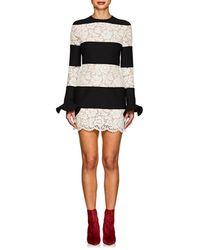 Valentino - Crepe & Lace Fitted Minidress - Lyst
