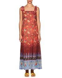 Warm - Leela Floral Cotton-silk Maxi Dress - Lyst
