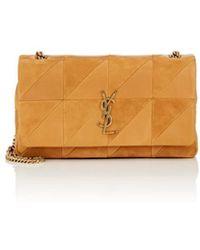 Saint Laurent - Monogram Jamie Medium Leather & Suede Chain Bag - Lyst