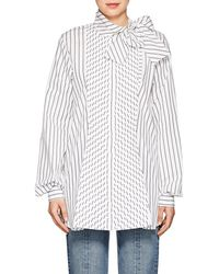 J.W.Anderson - Striped Cotton Poplin Blouse - Lyst
