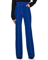 Derek Lam - Topstitched High-waist Flared Pants - Lyst