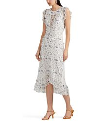 Sir. The Label - Posey Floral Silk Midi-dress - Lyst