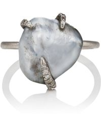 Samira 13 - Tahitian Keshi Pearl Claw Ring - Lyst