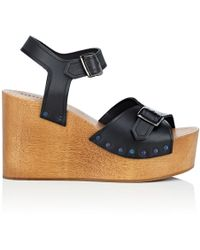 Barneys New York - Leather Platform - Lyst